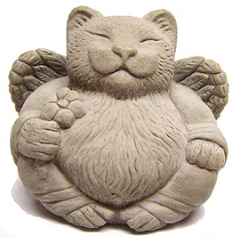 angel cat statue