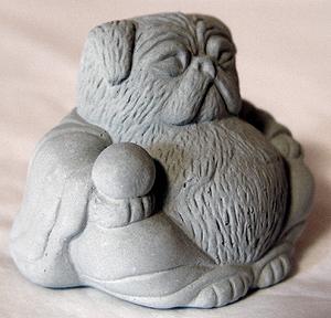 Mini Pug Buddha